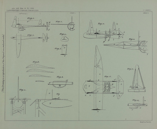Illustration from the Frederick Lanchester patent for improvements in and relating to aerial machines, 1897 [LAN/6/34/10].